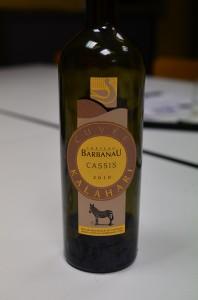 Vin blanc du Chateau Barbanau en Cuvée Kalahari - Cassis 2010