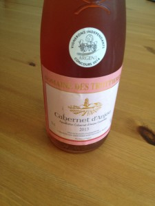 Vin du domaine des Trottières Cabernet d'Anjou Rosé 2013